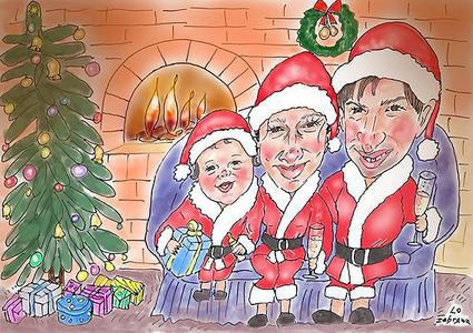 Christmas Caricature for Family