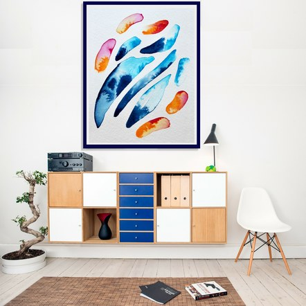 """""""River Shapes"""" in a Living Room"""