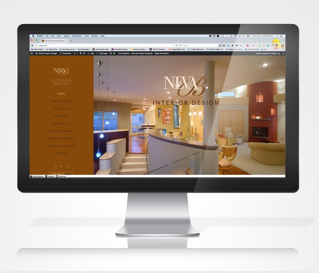 Neva B. Interior Design Web Site