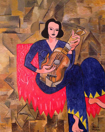 Woman with Guitar, by Pablo Matisse