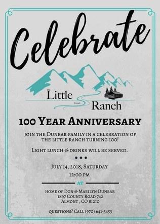 Little Ranch 100th Anniversary Invitation