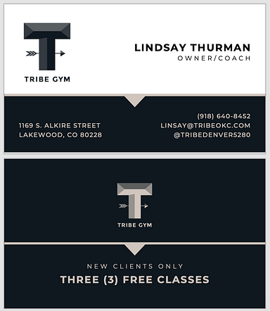 Tribe Gym Denver - Business Card