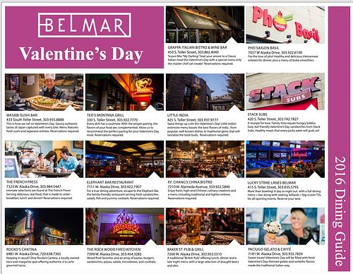Belmar Valentine's Day Dining Guide