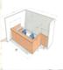 Design plan of reception desk animal Hospital