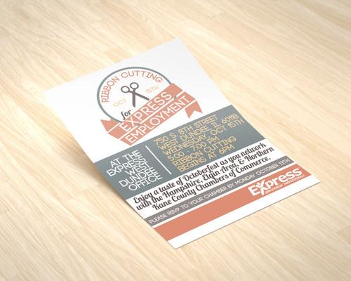 Express Employment Event Flyer