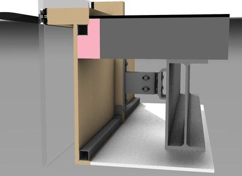 Rhino Model - Typical Floor Mullion Attachment Detail