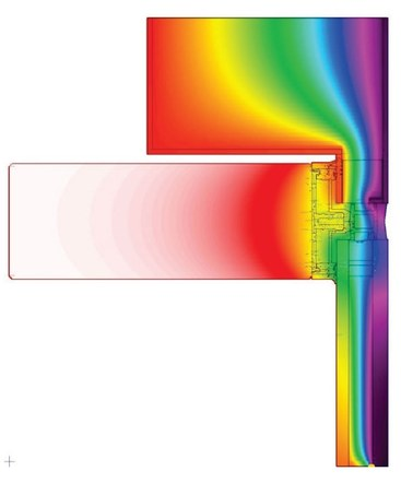 Glass to Metal Panel Transition - Thermal Analysis Model