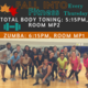 Flyer I Created for my Zumba Classes