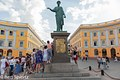 Ukraine, Odessa. Monument of the duke of Richelieu, founder of the city.