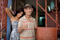 Man and his granddaughter, Havana Vieja, Cuba