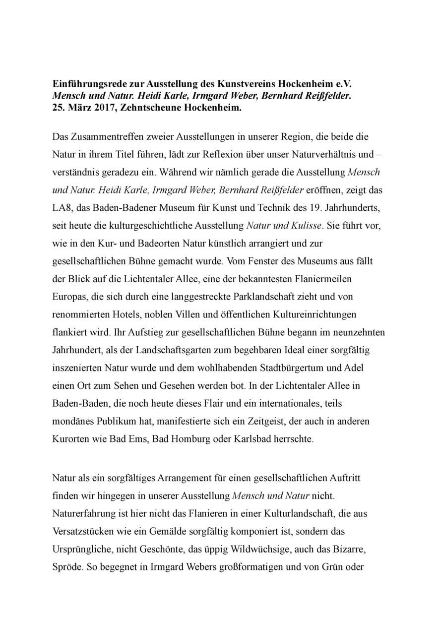 Karle, Weber, Reißfelder