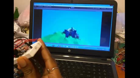 An endlessly flying Butterfly in Unity that is controlled by the Accelerometer Sensor ADXL 335 via Arduino