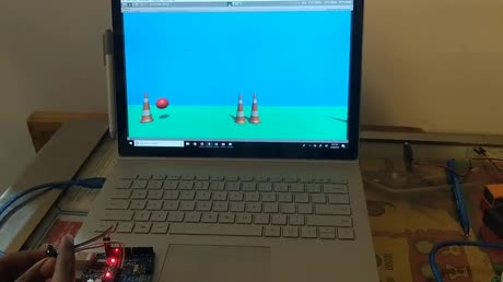 Arduino and Unity Controlling the Path of a Bouncing Ball with VL6180X-Time of Flight Distance Sensor