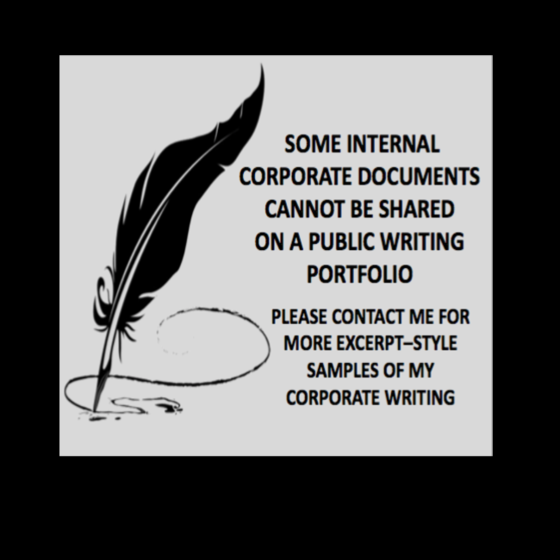 INTERNAL CORPORATE PUBLICATIONS
