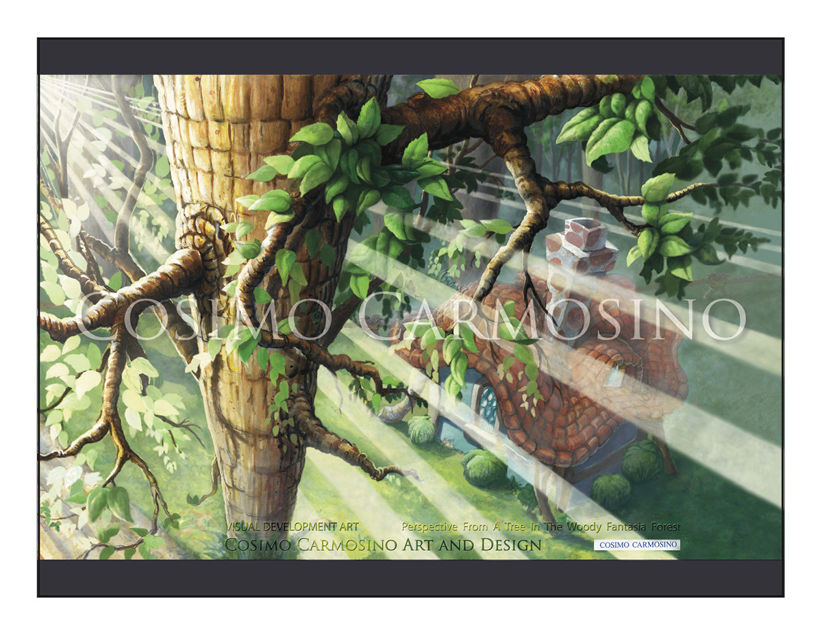 """TITLE: """"The Woody Fantasia Forest_Concept Art 3"""""""