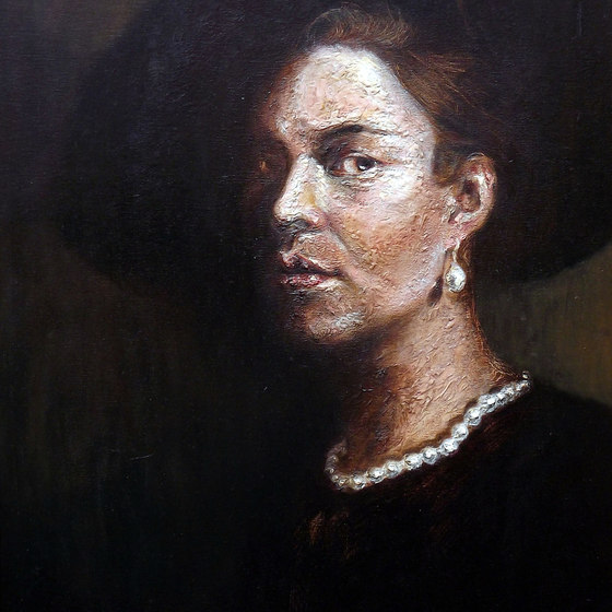 Woman in Hat (after Rembrandt)