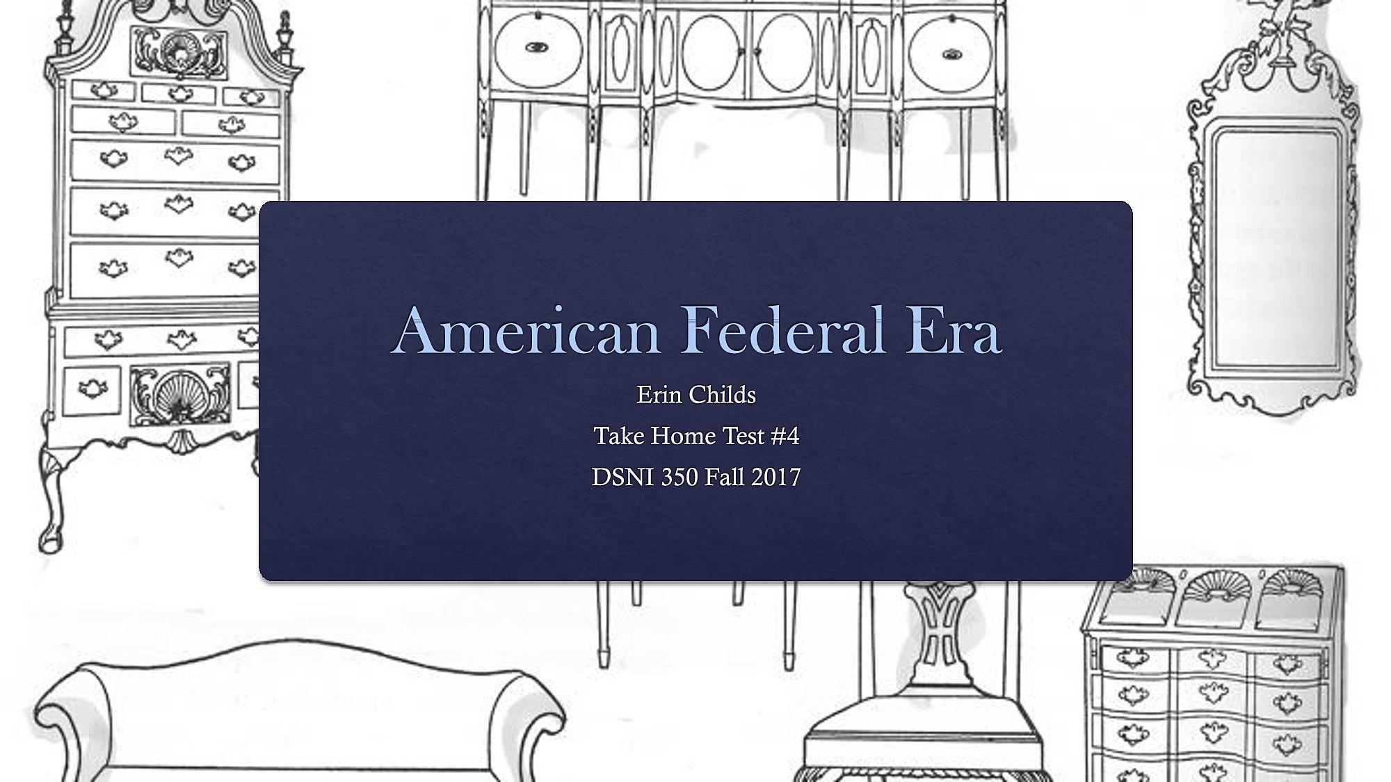 Federal Era Interior Design