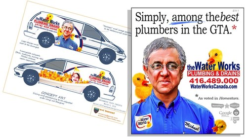 Water Works Ad and Van Wrap Concept