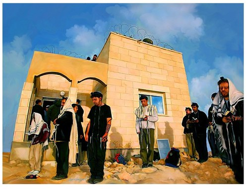 Last Shaharit (Morning Prayer) in Amona