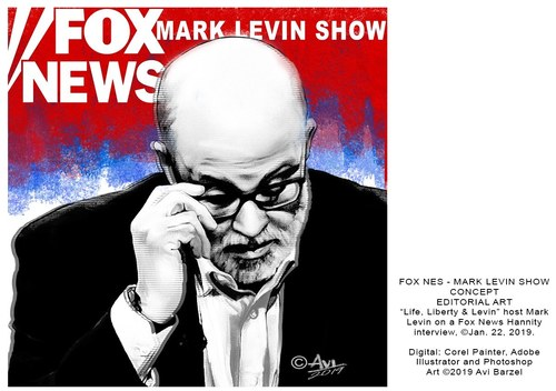 MARK LEVIN ILLUSTRATION