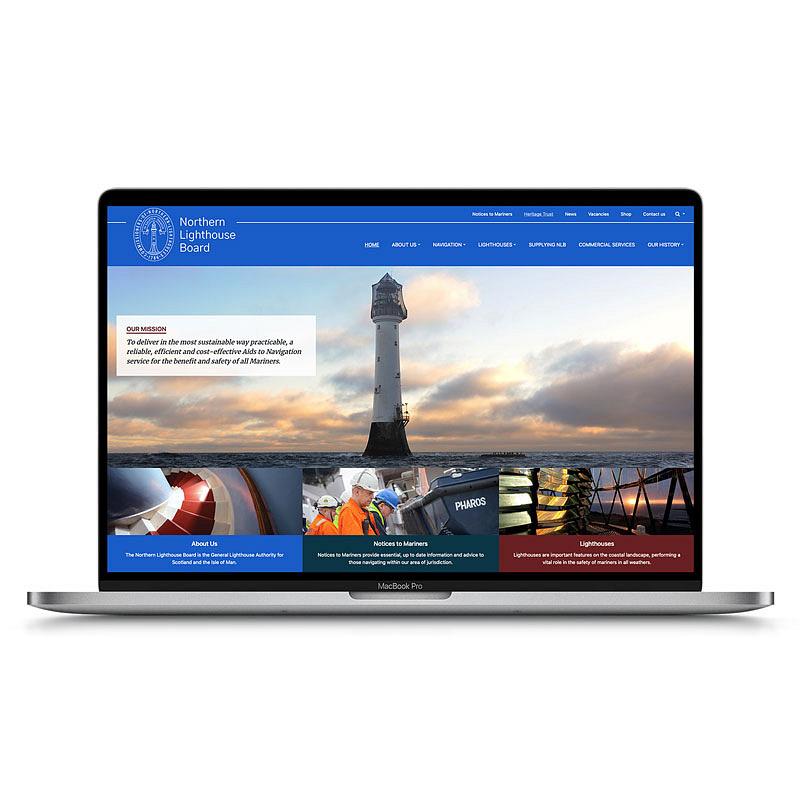 Northern Lighthouse Board web design