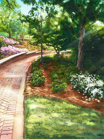Auburn Memorial Gardens Path