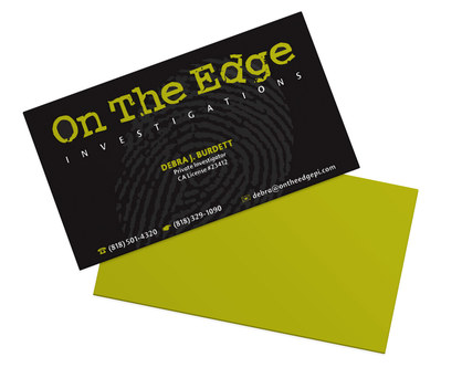 On The Edge Investigations | Alternate Business Card Design