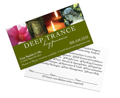 Deep Trance Hypnosis | Business Card