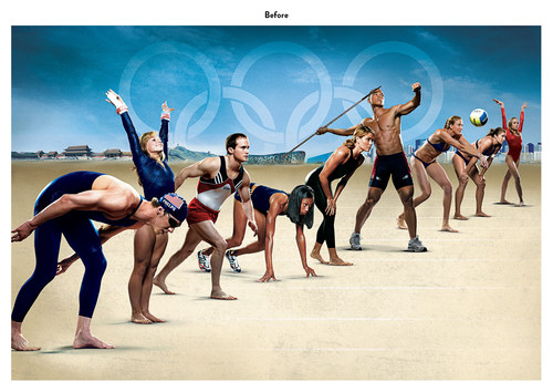 Summer Olympics in Beijing | NBC Advertising Art (Before)