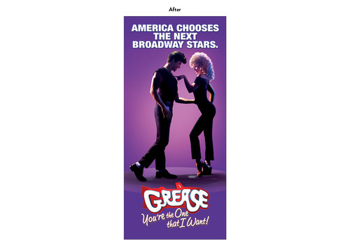 Grease | NBC Show Advertising Art (After)