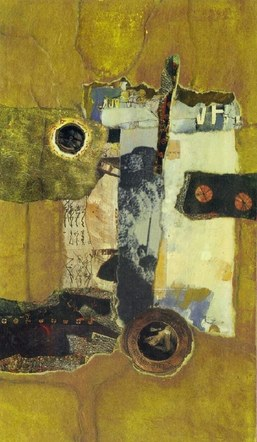 I Am a Camera: Abstraction 5 - Mixed Media Collage (on board) - 2016