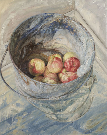 Bucket with Apples