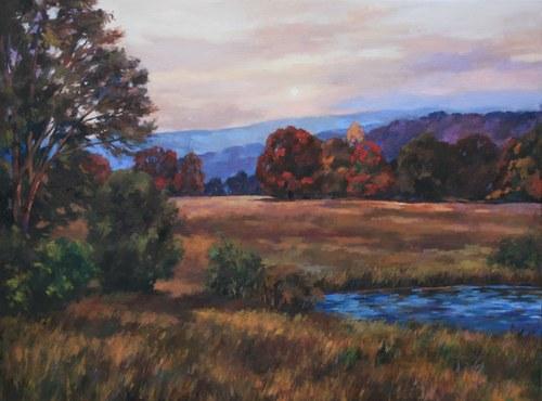 Joro Petkov, Oil on canvas, Landscape, # 35