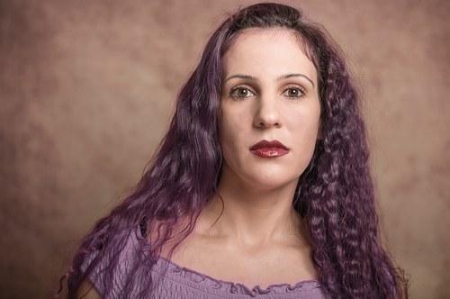 Sasha in purple(colour manipulation)