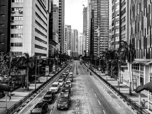 Emerald Avenue at Ortigas, Pasig, Philippines.