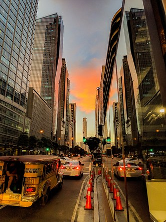 Golden Hour, Ayala Avenue, Makati, Philippines.
