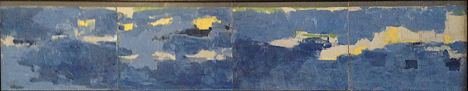 Untitled - 56x11 inches - ​Fresco + Secco - In private collection